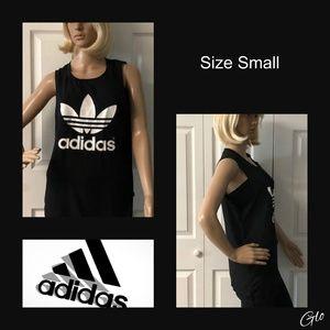 NWOT Adidas Black Muscle Tee Sz Small